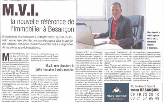 presse MVI référence immobilière à Besançon